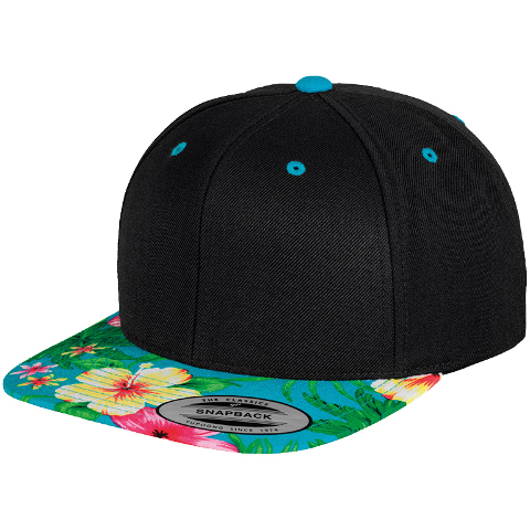73cf2507eea Flexfit by Yupoong Fashion Print Snapback · View model image