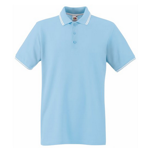 b8f1180031d6 Fruit of the Loom Tipped Pique Polo Shirt - Fruit Of The Loom ...
