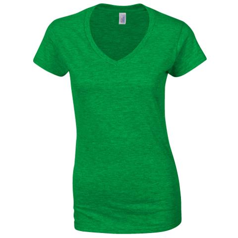ce9875cf8cd70 Gildan SoftStyle Ladies V Neck T-Shirt · View model image